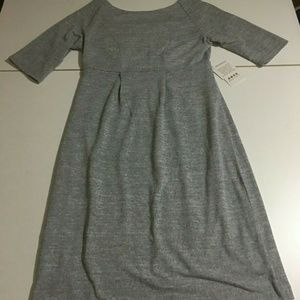 Rosie Pope Small Heather Gray Space Dye Dress NWT
